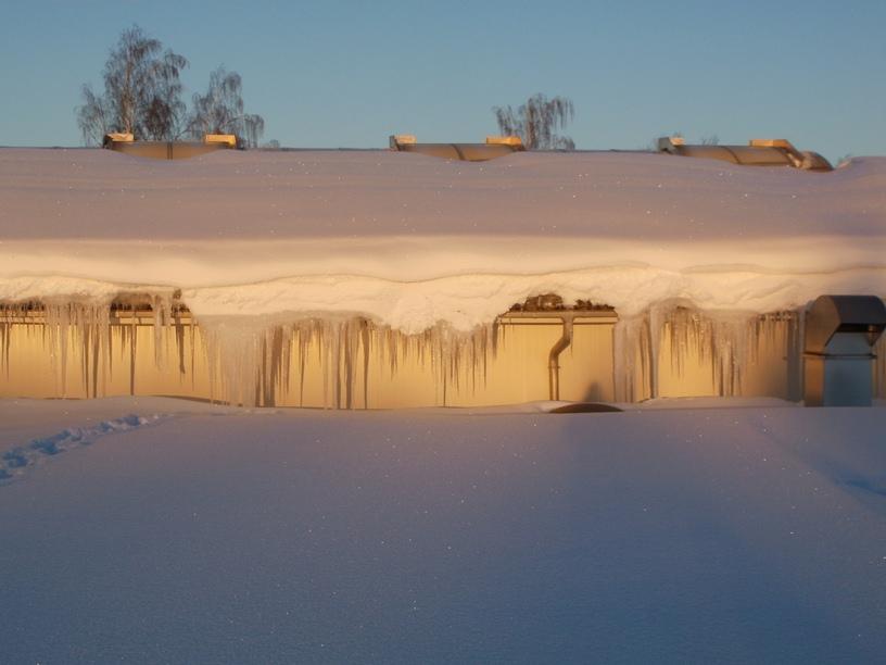 Flachdach mit Schneelast